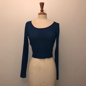 Forever 21 Striped See Through Long Sleeve